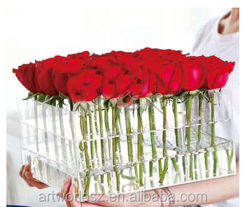 acrylic box for roses 7 tiers acrylic makeup box