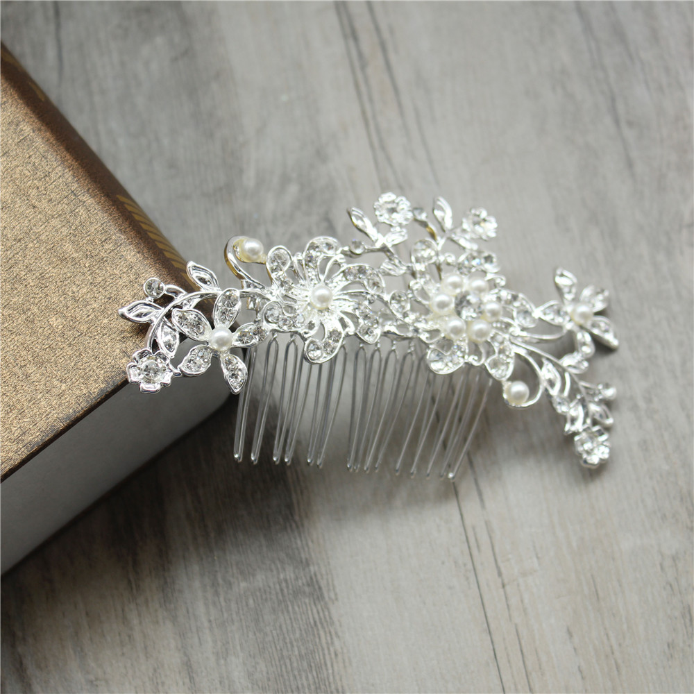 Formal sunflower rhinestone tiara hair clips for headwear