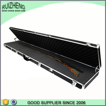 Professional portable aluminum vintage genuine leather gun case