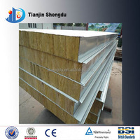 ISO cetificated container roof panel rock wool sandwich panel