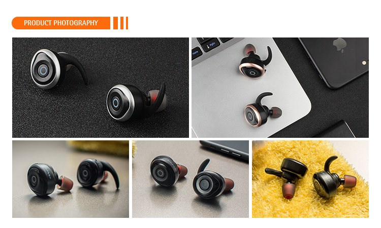 2017 Hot Selling TWS Headfree Bluetooth Earphone T1 Manufacturer BSCI CE ROHS FCC Certificated