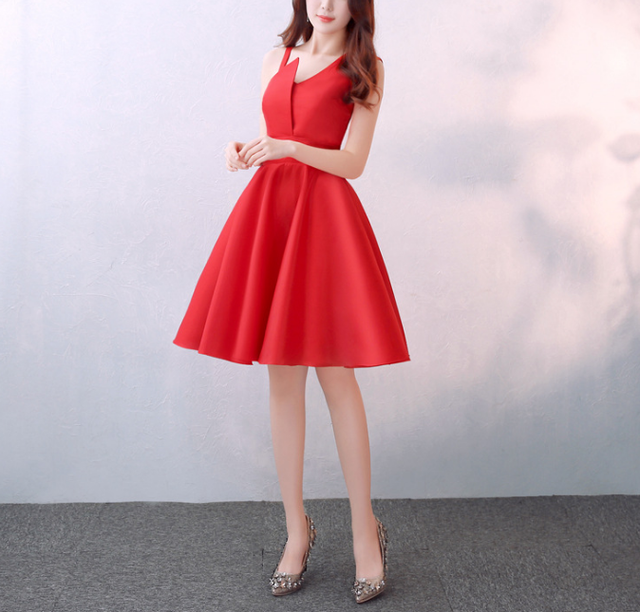 Summer red silk personality style bridesmaids sisters dresses wholesales