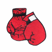 Boxing Gloves Embroidery Design DIY Applique Embroidered Sew Iron on Patch