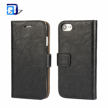 Alibaba Best Selling Premium PU Leather Card Holder Book Folio Magnetic Closure Stand Flip Protective Cover Case For iPhone 7