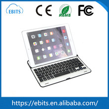 Custom smart aluminum cover wireless bluetooth keyboard for ipad air with stand
