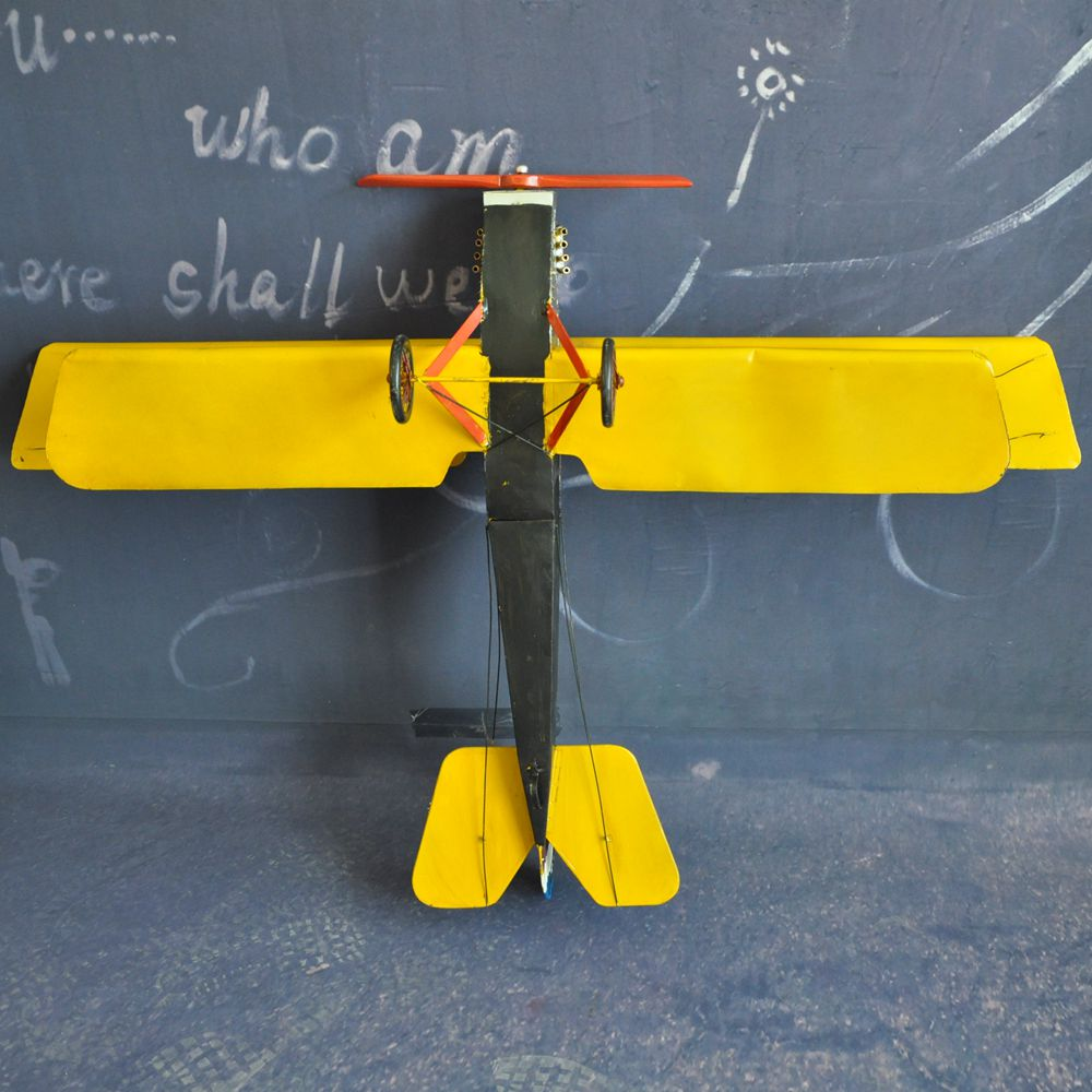 Vintage Iron Metal Airplane Display Model Artificial <strong>Crafts</strong> JLP1556B