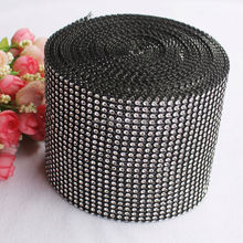 Factory Wholesale 24 rows Colorful Rhinestone Ribbon Imitation Diamond Mesh Wrap Wedding Ideas 10 Yards