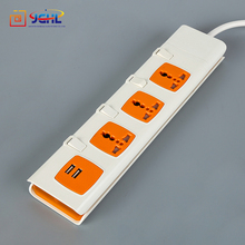 Factory supply British PC Multi 13A 4 Gang 4 Way Extension Socket with USB