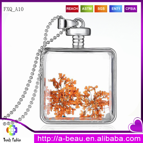 Wholesale Dry Flower Necklace Orange Flower Necklace FXQ_<strong>A10</strong>