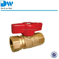 Forged two pieces body gas ball valve