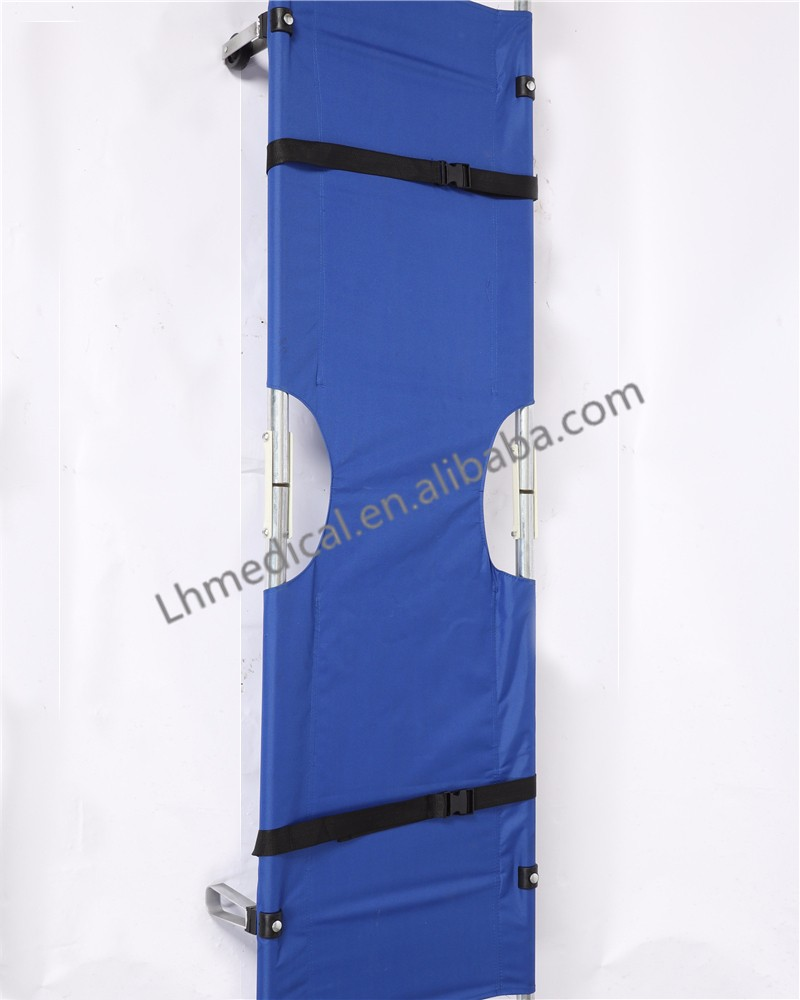 Foldable stair aluminum alloy stretcher with canvas