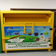 out door charity clothes recycling bin clothes drop box for sales