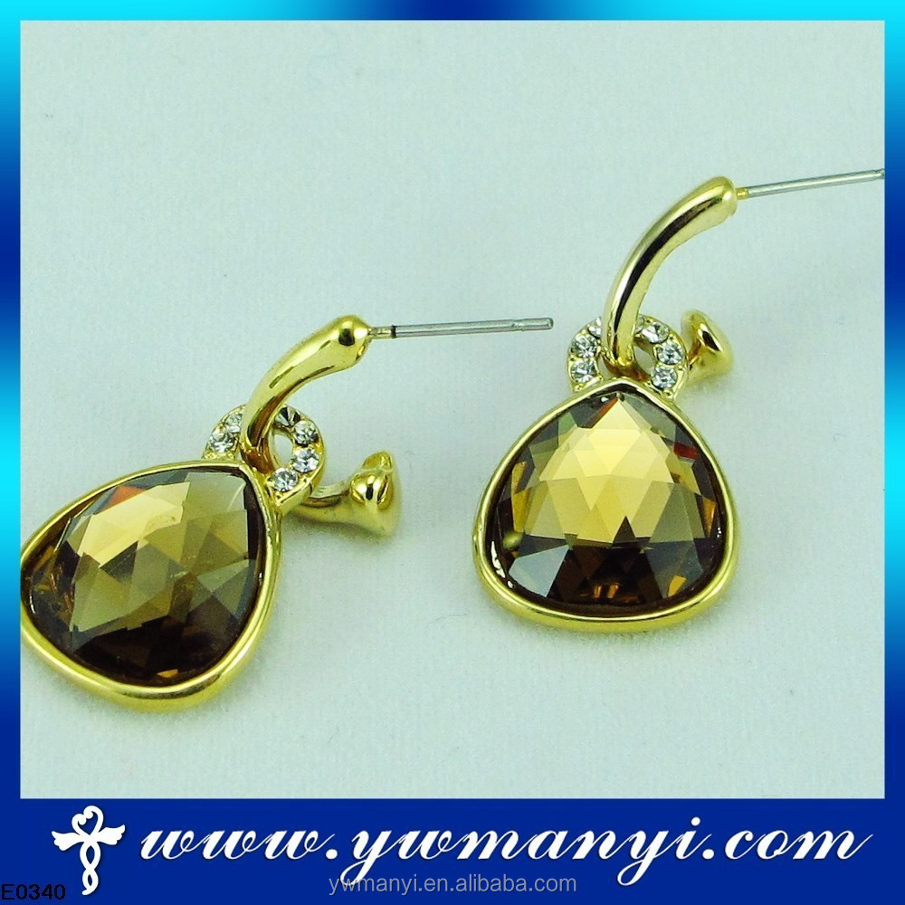 Wholesale Hot Selling Stock 22 carat gold earrings with new design