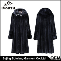 First Grade Chinese Natural Skin Warmly Fur coat Hoodies collar rhinestone decoration mink fur coats beijing