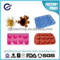 non-stick 6 cups cute shapes silicone cake mould