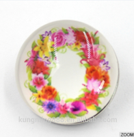Factory Price Custom Inlay Flower Alphabet Amber Snap Button