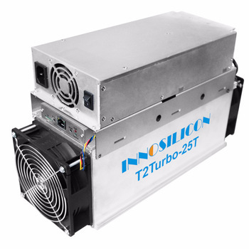 Hot Sell Innosilicon T2 Turbo T2T  25TH/s  SHA256 ASIC Chip  with PSU bitcoin Miner Machine