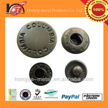 quality good engraved metal spring snap clip button 555 prym producer