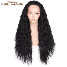 The Best Selling Long Afro Wigs For Women Synthetic Black Color Lace Front Glueless Wigs High Temperature Fiber Hair Wig