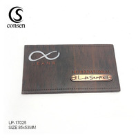 Fashionable custom jeans leather patch label with your own logo