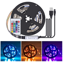100cm DC 5V 5050 USB Powered Strip Light Led TV Backlight Multi Color Changing Kit With the 24Key Remote