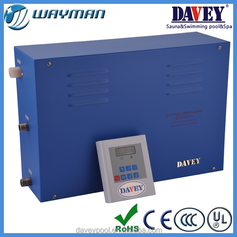 Davey cheap price wet sauna steam generator with computer control panel