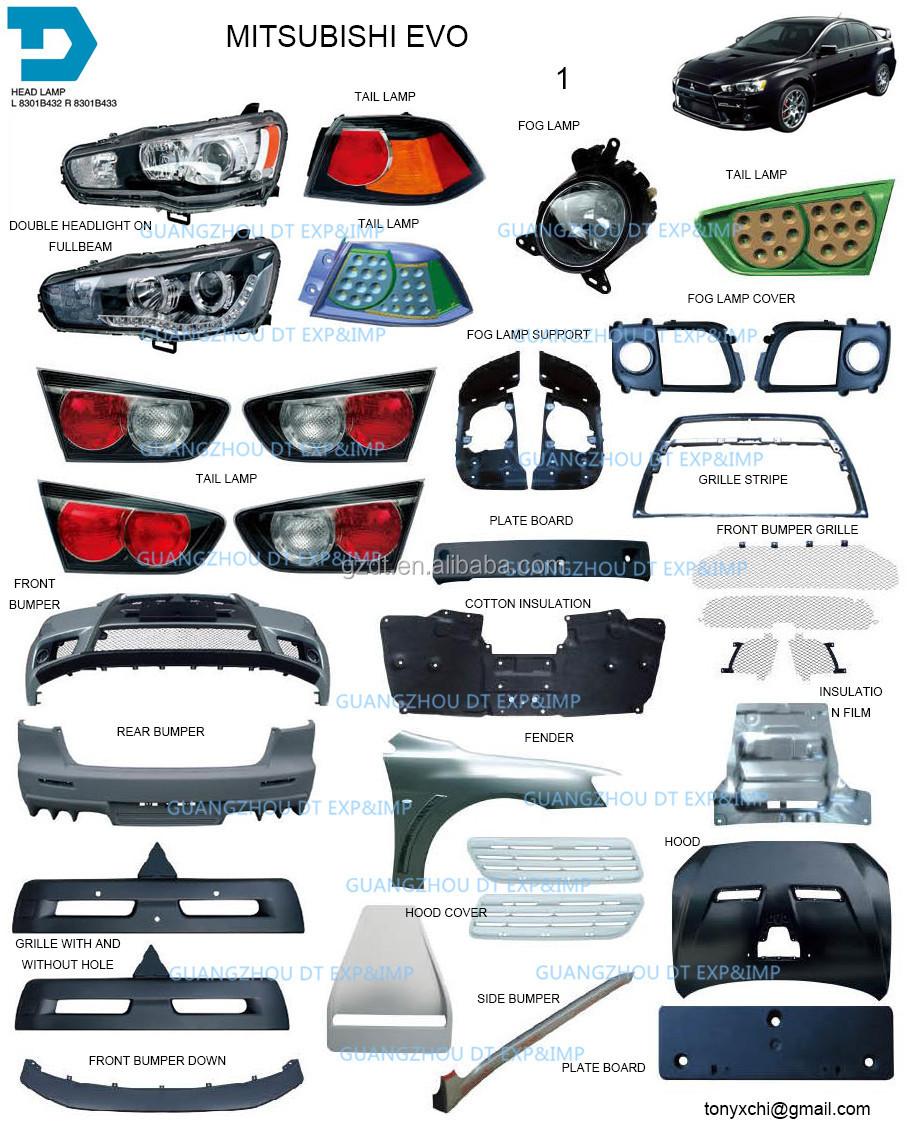 2007 2015 Mitsubishi Lancer Headlight Taillamp Bumper Fog Lamp Body Parts Buy 2007 2008 2009