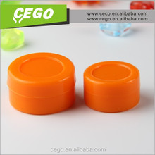 Fashiona silicone customized bho oil container,Non stick high quality custom silicone rubber container for concentrate wax