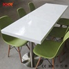 6 seater dining table set, solid surface caffe table for dining