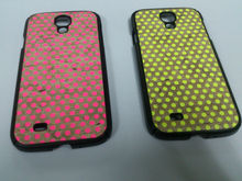 New fluorescence leather phone case for Samsung S4 SC-S4-L02
