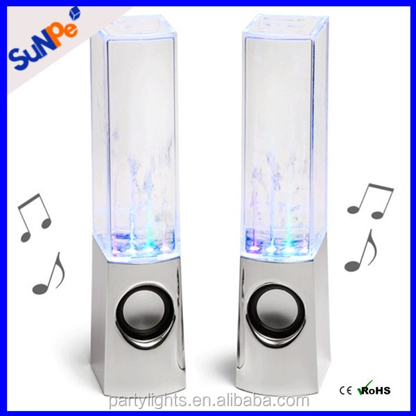 8W LED Lights Show Bluetooth Dancing Water Fountain Speakers That Glow In The Dark