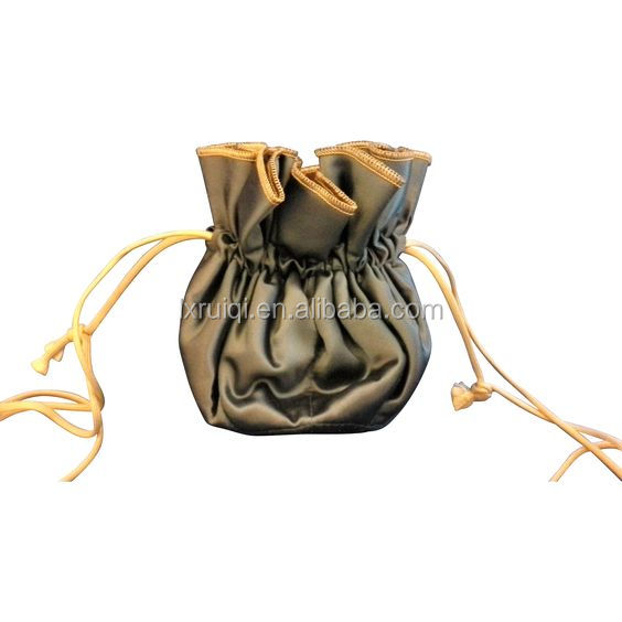 Custom satin drawstring bags for jewelry with printing