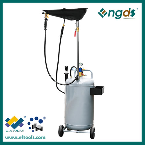 80L mobile pneumatic waste oil extractor machine