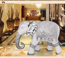 Modern home decor accessories custom resin craft large elephant statue for gift