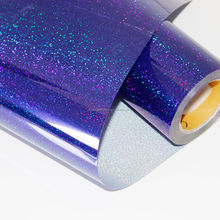 Chinese Blue Film holographic film with custom pattern & Self Adhesive Holographic Hot Laminating Plastic Film Roll
