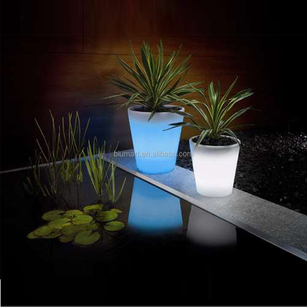 Solar led flower pot lighted vase lamp landscape lighting garden led planters light lantern for CHRISTAS NEW YEAR