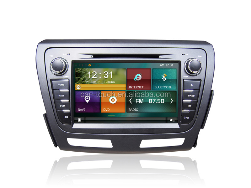 In-dash car stereo radio/dvd/gps/mps/3g multimedia system 2din wince car pc for Baic Car