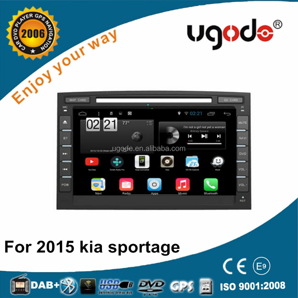 ugode new products 2016 Android Car DVD GPs with Radio for Kia Sportage 2016