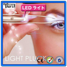 High quality tweezer with led/eyebrow clip/tweezer with led light
