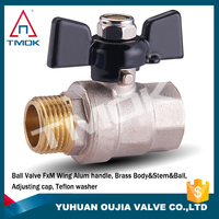 brass ball valve 3/4 inch dn20 PN40 for water pumb/water pipeline/gas ball valve