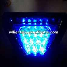 12 LED Blue/Red/White Tail Blue F1 Brake Stop Blue F1 Brake Light --WLlighting