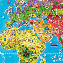 educational world map fridge magnet / fridge magnet puzzle