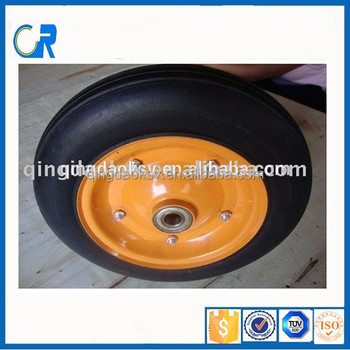 Qingdao wholesale main market products 3.50-8 pu foam wheel