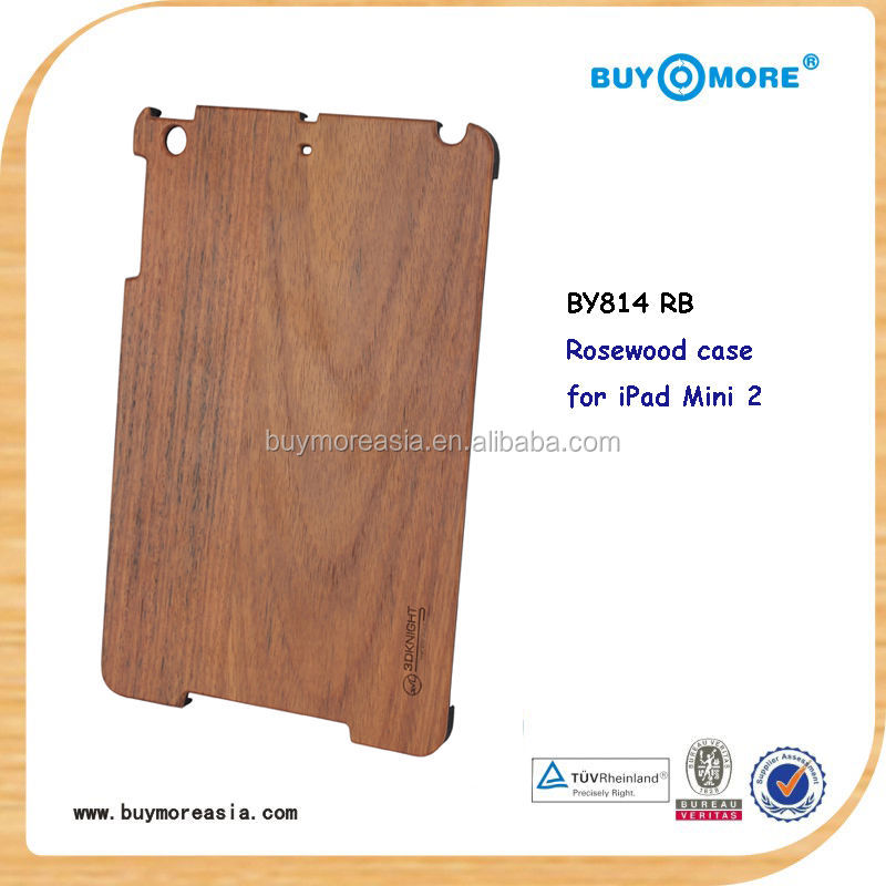 high quality pure wood case for ipad mini pure wood case, many wood materials available