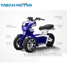 Open 1500W 60V 26Ah ITANK Electric Tricycle Scooter With COC File