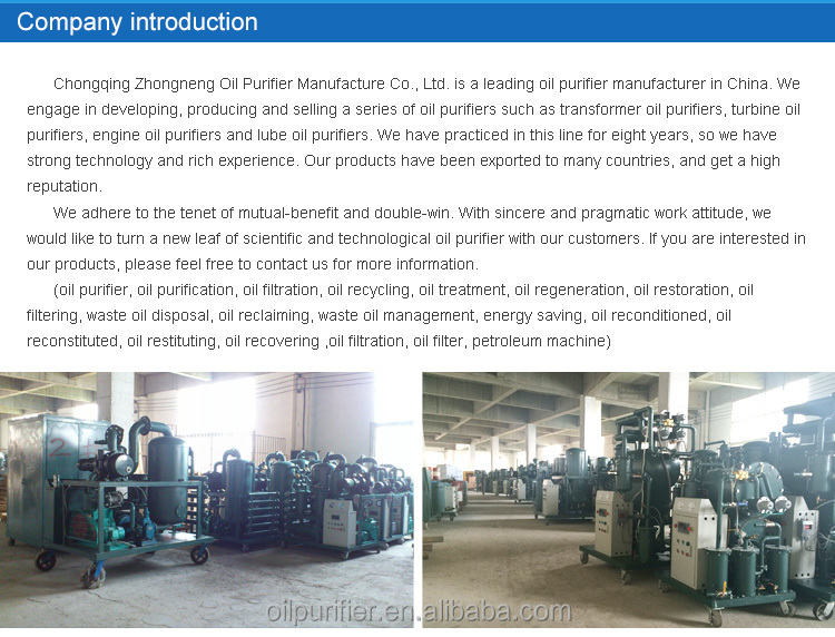 TYB Series Oil Regeneration plant Oil Filtration machine for Gasoline diesel recycling