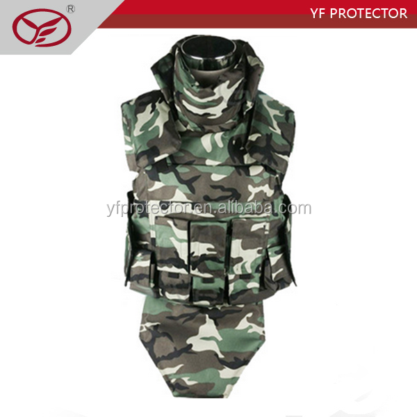 Detachable desert camouflage soft full protection military bullet proof vest