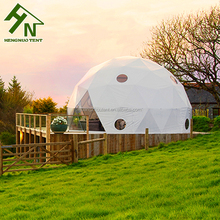 6m Diameter High Quality Aluminum frame Wooden Floor Glamping Geodesic Dome House Tent