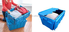 40L Moving Plastic Attached-lid Storage Containers