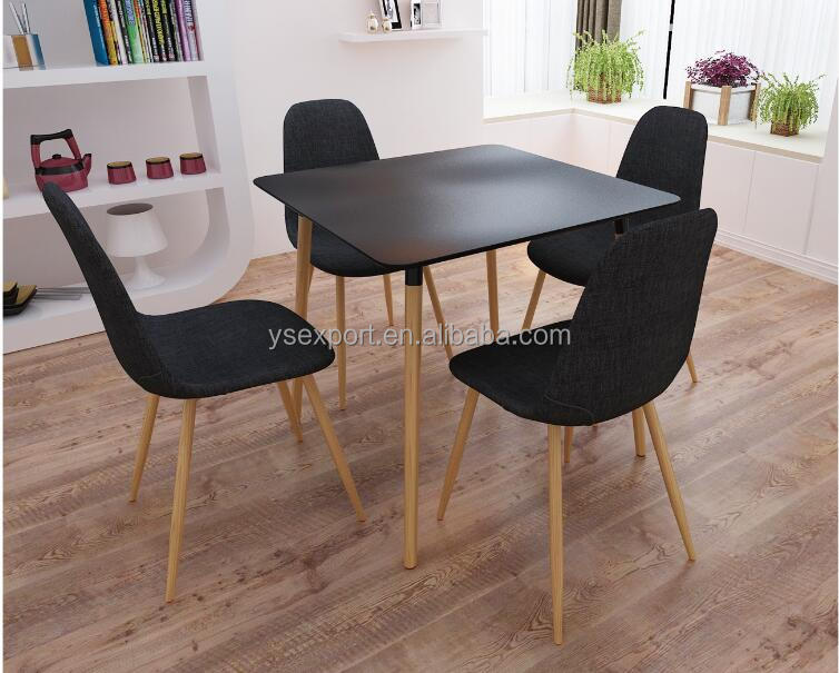 new design dining set metal legs wood top table chairs Simplicity artistical furniture